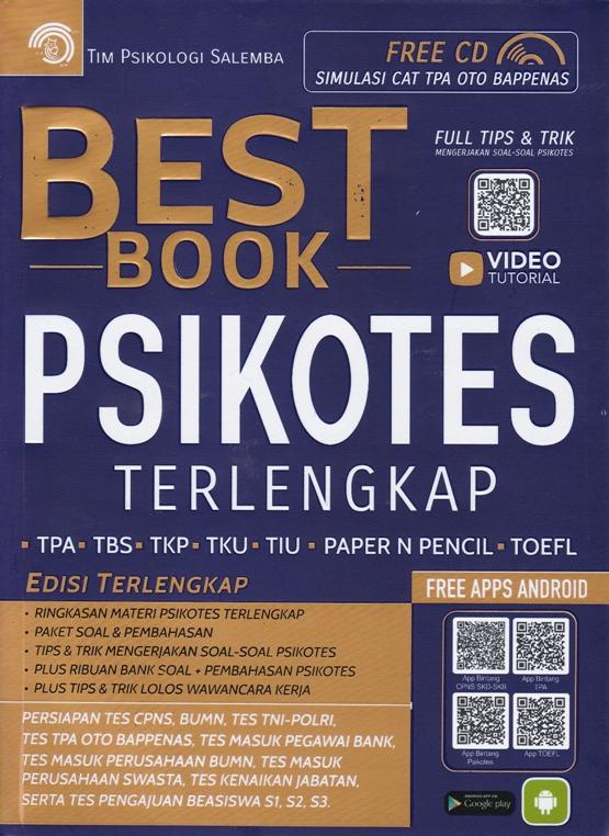 Buku Best Book Psikotes Tim Psikologi Mizanstore