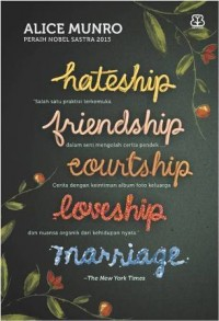 HATESHIP FRIENDSHIP COURTSHIP LOVESHIP MARRIAGE