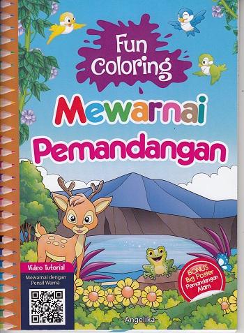 Buku Fun Coloring Mewarnai Angelika Mizanstore