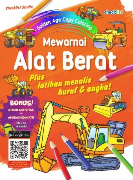 Buku Mewarnai Alat Berat Checklist Studio Mizanstore
