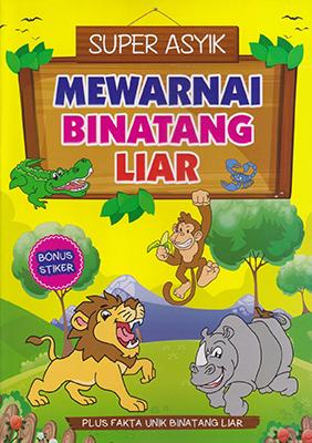 Buku Mewarnai Binatang Liar Orlin Mediatama Mizanstore