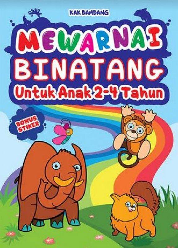 Buku Mewarnai Binatang Untuk Kak Bambang Mizanstore