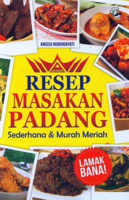 Buku Resep Masakan Padang Anissa Nurhidayati Mizanstore