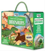 TRAVEL,LEARNANDEXLOPRE:DINOSAURS OVAL PUZZLE